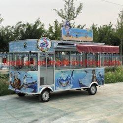 Elektrische volledig gesloten vierwielers mobiele Street Food Car voor koffie, ijs, Fast Food burger