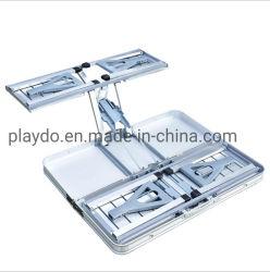 أنشطة خارجية خفيفة الوزن طي سهل الحمل المنضدة المنشطة بالمنيوم تحريك لأعلى طاولات تخييم محمولة