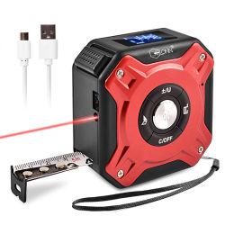 شريط قياس ليزر رقمي ذكي من جهة تصنيع المعدات الأصلية (OEM) مقاس 40 م 2 في 1 شريط قياس صغير مخصص