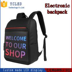 Control de la APP impermeable Bolsa Led Programable derechos vallas de publicidad de Display de LED se encienden mochila