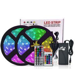 Amazonas/Ebay heißer Verkaufs-komplettes Set 5m 5050 des RGB-LED wasserdichter IP65 Fern-LED Schlüsselstreifen Streifen-Licht-Energien-Adapter-44
