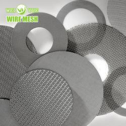 قرص مرشح شبكي من الفولاذ المقاوم للصدأ بسلك 50 100 ميكرون
