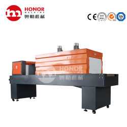 カプセル化、シーリング、切断、熱収縮、冷却、成形さまざまなボトルタイプのフィルム包装機械一式