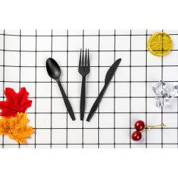 Set di posate compostabili in plastica CPLA 100% biodegradabili personalizzato con Toothpick sale di Pepe di nappino