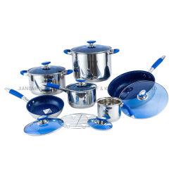 14cm Milk Potの13PCS Stainless Steel Cookware Set Non Stick Saucepan