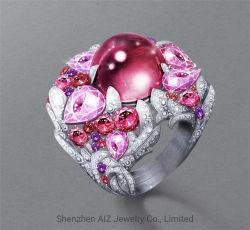 2020 anello di diamante personalizzato di qualità superiore dell'oro dei monili 18K della pietra preziosa del diamante di ultimo disegno per le donne