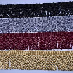 高品質6.5cmの厚さの衣服のためのツイスト金塊のフリンジのふさ