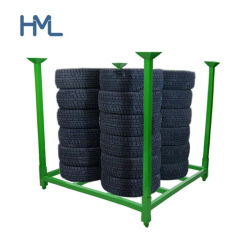 Hot Sale Metal Heavy Duty Rack de stockage de pneus de camion amovible