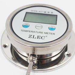 Thermomètre bimétallique Thermomètre à thermocouple avec tuyau de métal Wsn-401 Thermomètre d'affichage numérique de la série