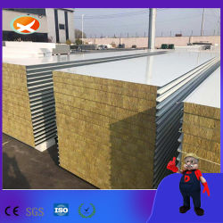 100мм PPGI короткого замыкания рок шерсть Сэндвич панели для изолированных комнат от производителя