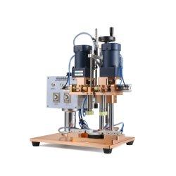 Manuale di coperchiamento rotativo della macchina della clip crema semiautomatica della bottiglia