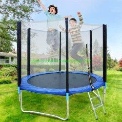 Home trampolín para los niños y adultos con gabinete de seguridad Net Saltar Mat y la primavera de cubrir el relleno, gimnasio de salto de trampolín