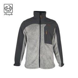Y el contraste de malla tejido especial conjunta de tejido de la chaqueta de hombre