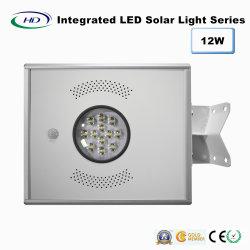 12W capteur PIR LED intégrée Lumière solaire de jardin