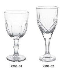 明確で高いホウケイ酸塩ガラスのワインのゴブレットのガラス製品
