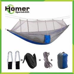 Для использования вне помещений Two-Man армии зеленый гамак с противомоскитные сетки Ultralight нейлоновые кемпинг палатка воздуха