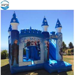 Congelados insufláveis Cartoon infláveis Combo Queen com deslize Jumping Castelo. Congelados infláveis Elsa castelo insuflável
