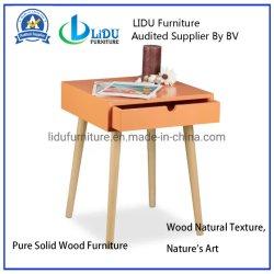 Café de lado la tabla final Mesita de madera maciza de madera maciza Muebles Casa muebles