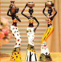 Creative African Lady Resin Figurine Decoratief
