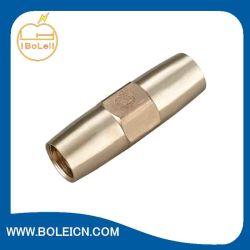 Herrajes de bronce de rosca de acoplamiento para roscado de cobre Bond varilla de tierra