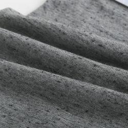 CVC Dobby Heather de coton gris Jersey fin tissu de polyester tricotage de chiffon pour vêtement
