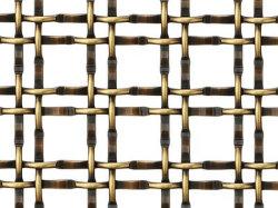Doppia rete metallica tessuta unita di rame