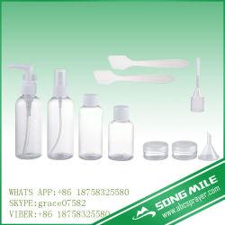 10pcs cosmétique bouteille voyage réglé avec bouteille de pulvérisateur