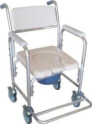 Commode di alluminio con il blocco per grafici e la rotella d'argento brillanti