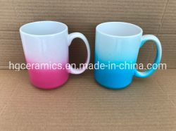 15oz Revêtement de couleur mug, la moitié de revêtement de couleur, couleur Spray Mug mug