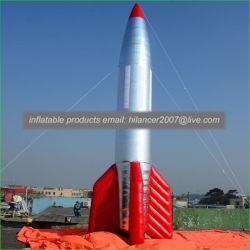 De grote Opblaasbare Opblaasbare Raket van de Reclame van het Luchtschip van de Raket van de Decoratie Model