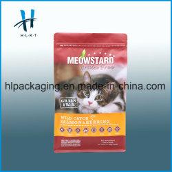 100% пищевой категории Cat относиться к упаковке блок квадратные плоский низ молнией встать чехол пластиковый мешок для продовольствия для ПЭТ