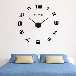 Новый дизайн звука DIY Настенные часы 3D наружного зеркала заднего вида декоративные настенные часы