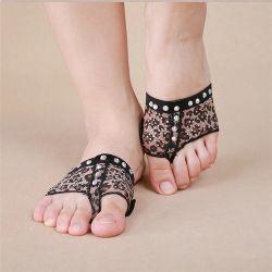 Pie Thong Calcetines Ballet Nude Dancewear lírica Tan Pad Protector de Toe zapatos tientos