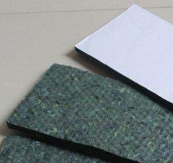 La resina non tessuta della fibra completamente ha curato il feltro verde del cotone dell'isolamento acustico