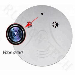 動きの検出の無線火災報知器のモニタが付いているMc37煙探知器のカメラ