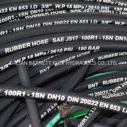 Usine de gros rat SAE100/FR853 st sur le fil de la tresse de flexible hydraulique du flexible en caoutchouc de silicone