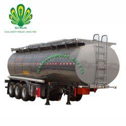Réservoir d'huile Shengrun 55 CBM semi-remorque de camion de carburant pour l'huile/carburant/diesel/essence//eau/lait brut Transports