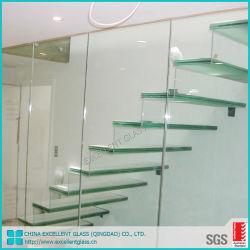 Forte de haute qualité balcon décoratifs balustrade de clôture de panneaux en verre trempé