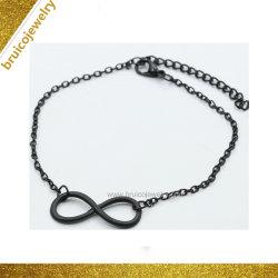 Monili neri speciali del braccialetto dei monili del Rhodium di colore 9K dell'oro di modo
