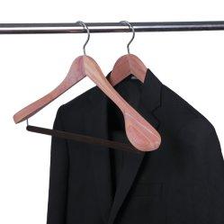 Gancio di legno del cedro naturale largo di qualità superiore della spalla per vestiti