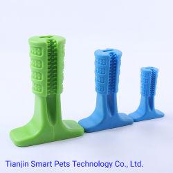 Matériau en caoutchouc Meilleur chien de mâcher de la tige de molaire de chien de compagnie Cat Toy