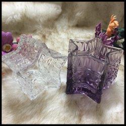 De transparante Gekleurde Decoratie van Tealight Homeware van het Glas imiteert de Houder van de Kaars van het Glas van het Porselein