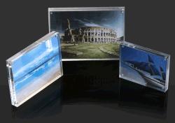 Retratos de acrílico quadrado personalizado travando Moldura Fotográfica grossista na parede