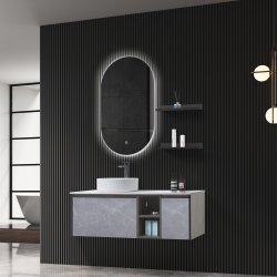 تصميم الدُرج تصميم الباب الخزف حوض الغسيل الخزف الخشب الرقائقي الحمام الخشب الرقائقي خزانة مع مرآة