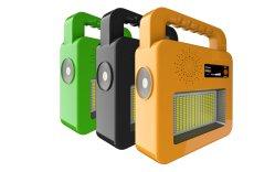 Mobile Projector LED Recarregável de emergência portátil Bluetooth Power Camping Holofote Solar