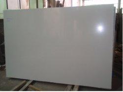 Blanco puro artificial mármol para encimera lavabo de cerámica de Losa superior