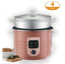 Fogão Eléctrico de tamanho pequeno com tigela de arroz Antiaderente removível e culinária saudável para cozimento a cesta de alumínio