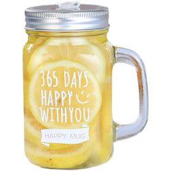Großhandel Glas Wasserflasche mit Griff Glas Mason Becher für Party Dekoration Glas Trinkset