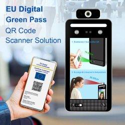 شهادة الاتحاد الأوروبي الرقمية قياس درجة الحرارة جهاز قياس درجة الحرارة التعرف على الوجه Biometric Face Recogn