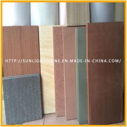 Природные дешевые Отточен/Lychee желтого цвета деревянной Sandstones для напольных, настенных плиток